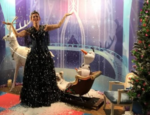 Frozen parties with snow